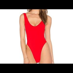 Other - 90s TREND RED ONE PIECE SWIMSUIT SIZE S
